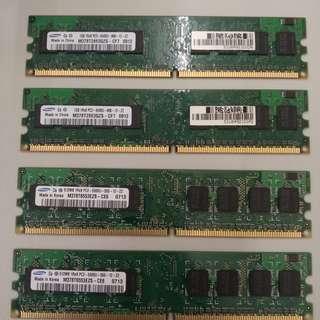 #July8sales  20蚊4條RAM DDR2,不用更多說明吧?