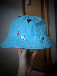 雙面漁夫帽 reversible boy bucket sunhat 2t-3t-4t
