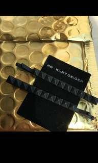 Authentic n brand new Kurt Geiger light gold hair pins