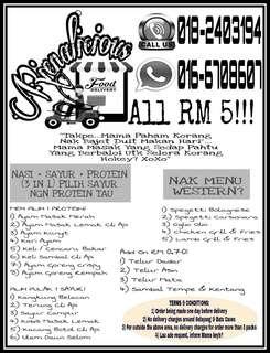 Lunch/Dinner Box Bajet RM 5