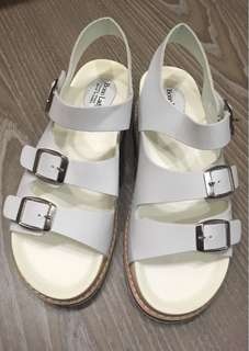 💝出清特價❤️二手私物 韓國製 勃肯風涼鞋24cm(適合23.5cm)