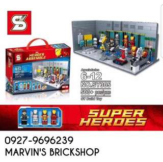 SY305 Iron Man Hall Of Armor Or Laboratory Building Blocks Toy