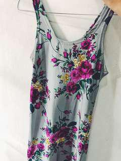 floral tanktop dress