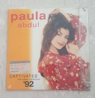 Paula abdul captivated '92 laser disc record
