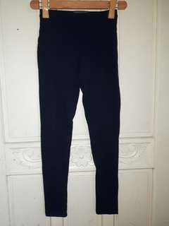 Navy Blue HW Leggings