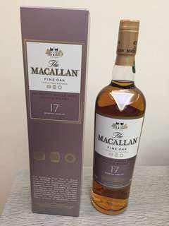 停產 Macallan 17年 Fine Oak (買2支每支減$80)
