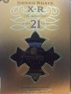 Johnnie Walker X•R 21年威士忌限量版