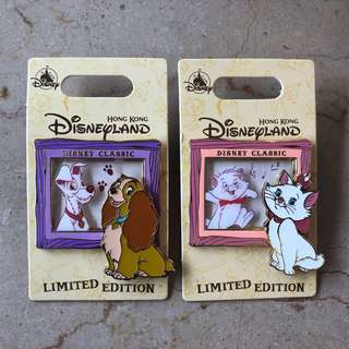 迪士尼徽章 Disney Pin Disney LE 迪士尼襟章 迪士尼徽章交換Marie and Berloiz, Lady and the Tramp