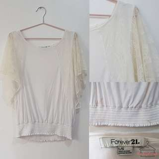 Forever 21 Lace Sleeves Blouse