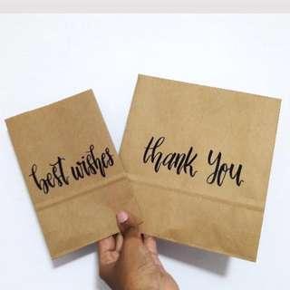 Customizable Calligraphy Writings On Paper Giftbags