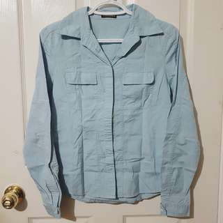 CLUB MONACO Light Blue Button Down