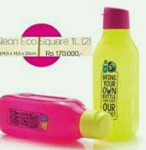 Tupperware neon eco bottle 1lt (2pc)