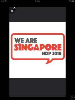🚚 NDP 2018 tickets