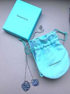 Tiffany 852 Silver heart shaped necklace 頸鏈