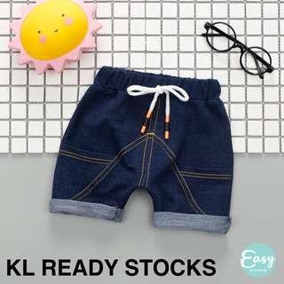 Kids Boy Casual Comfy Cotton Short Pants with Jeans Design