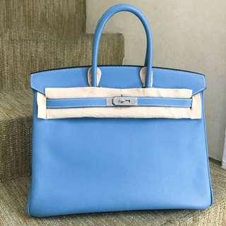 Hermès Birkin 35 牛仔藍 🐳EPSOM皮💎💎品相很好,線白白的🤟🏻現貨好價港幣💰6xxxx