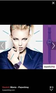 Swatch watch purple rebel