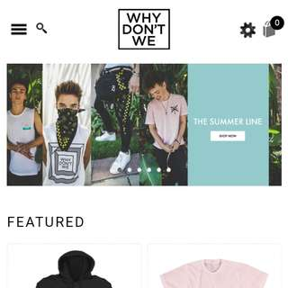 (non profit preorder!!) why dont we merch