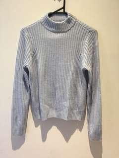 Pale Blue Knit Jumper