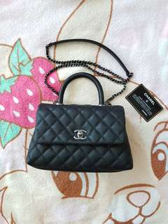 Chanel 蜥蜴皮 coco handle