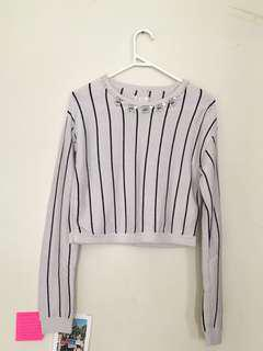 Korean style cropped jumper