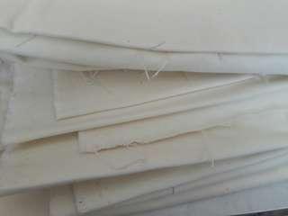 Kain kanvas white