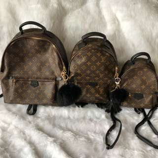 Louis vuitton palm spring backpacks