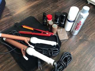 Makeup Artist hair styling tools