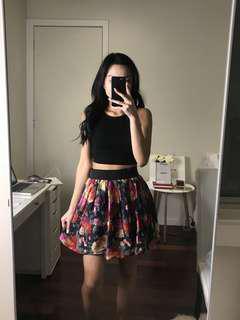 Bardot floral skirt