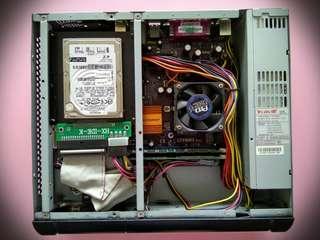 即買即用,主板,CPU ,RAM, heatsink & hard disk