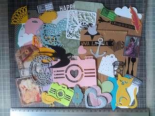 Diecuts, tags, journal cards assortment