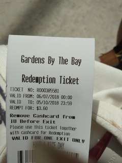 Gardens by the bay carpark coupon