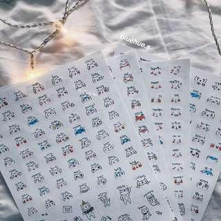 🚚 [instock] cute korean emoticon stickers