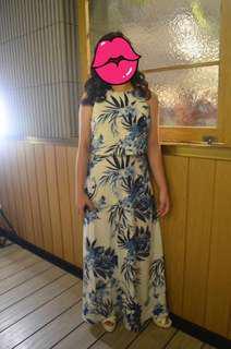 ZALORA Bridesmaid Double Layer Maxi Dress