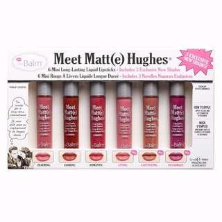 ✨ CLEARANCE INSTOCK SALE: THEBALM Meet Matte Hughes Lipstick Set