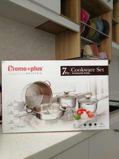 HomePlus 7pcs Stainless Steel Cookware set
