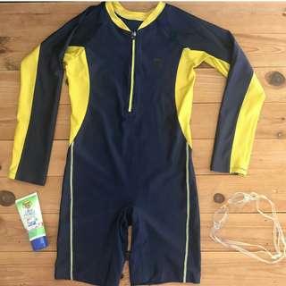 Yellow kombi swimsuit