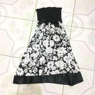 (Brand New) Black and White Floral Dress