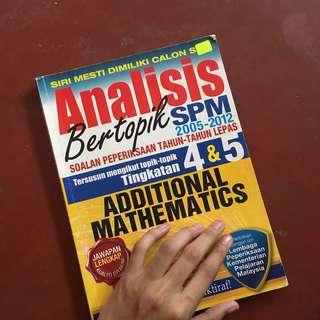 Additional Mathematics SPM Past Year Question
