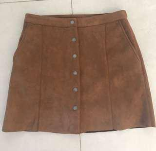 All about eve brown skirt
