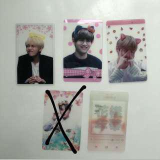 BTS Taehyung/jimin fansite transparent photocard