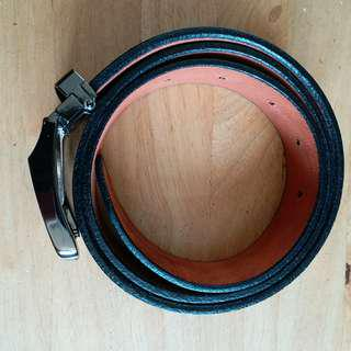男裝黑色真皮皮帶 Men's Black Genuine Leather Belt