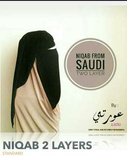 niqab two layers from saudi