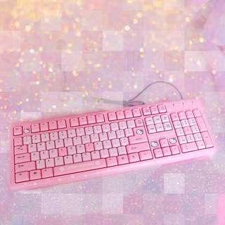 Hello Kitty粉色鍵盤
