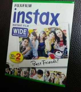Fujifilm instax wide 即影即有相紙 白邊大相紙 (20張)