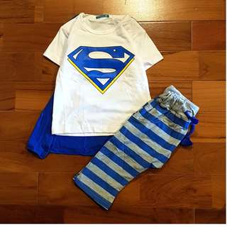 Superman 3-in-1 biru set wing