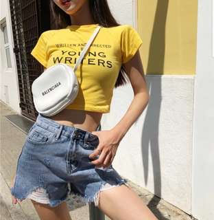 💟 Young Writers Crop Top