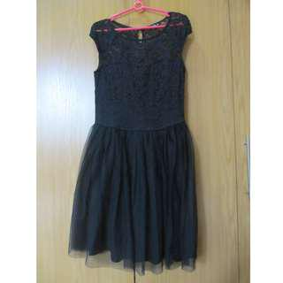 Black Terranova lace and tulle dress (used once)