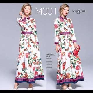 Floral maxi dress: M001