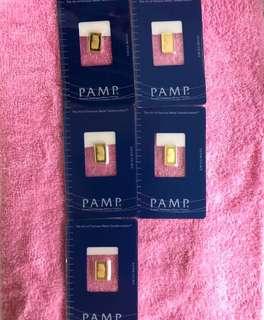 PAMP - 1g & 10g gold bars ❤️❤️❤️
